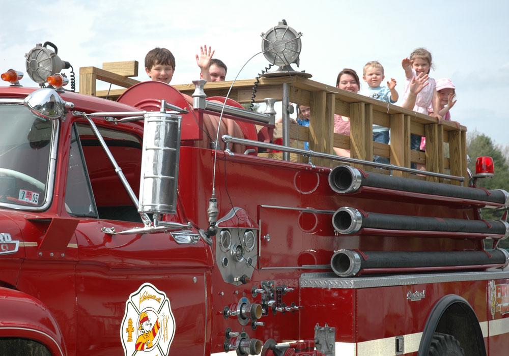 Kids on Fire Truck