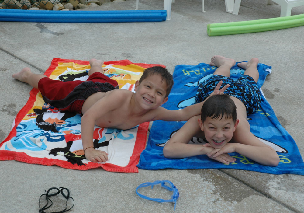 Two Boys At The Pool