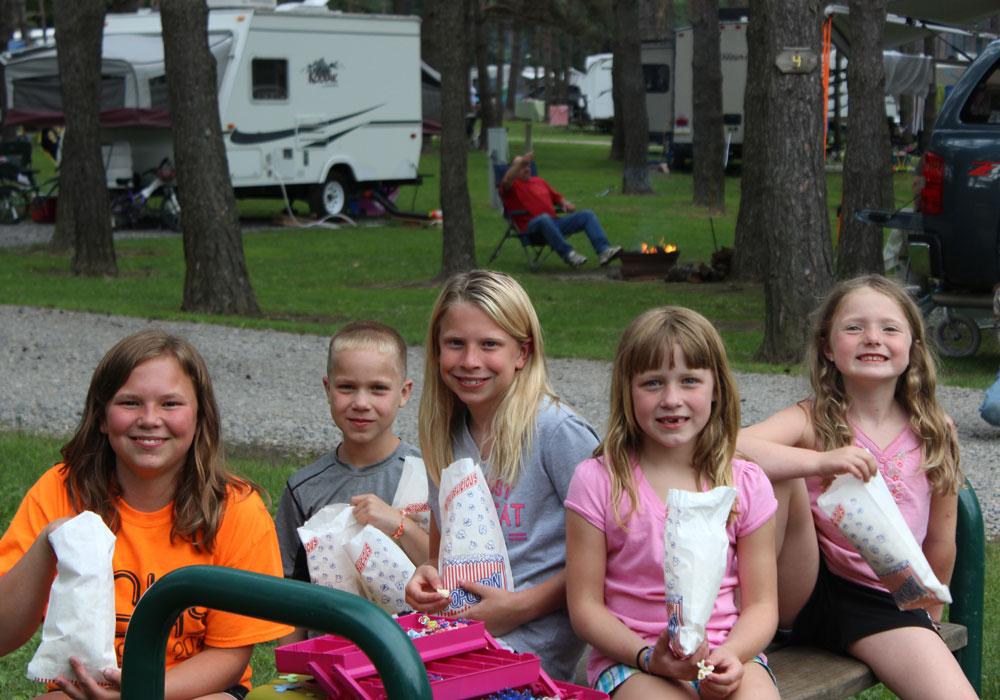 Children Enjoying Popcorn