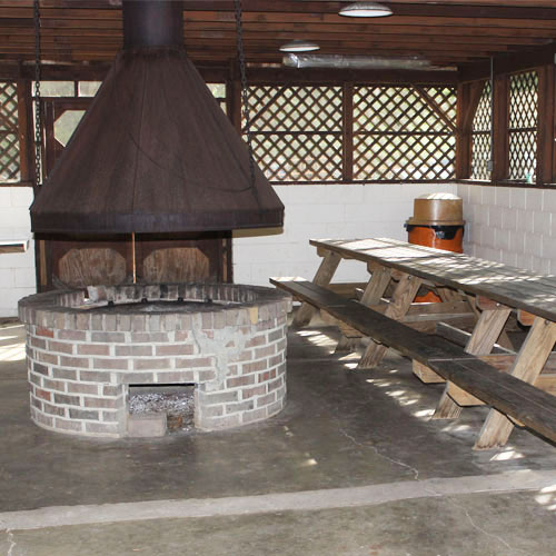 Enclosed Pavilion & Fire Place