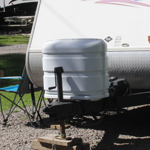 Back of Camper - Propane Tank